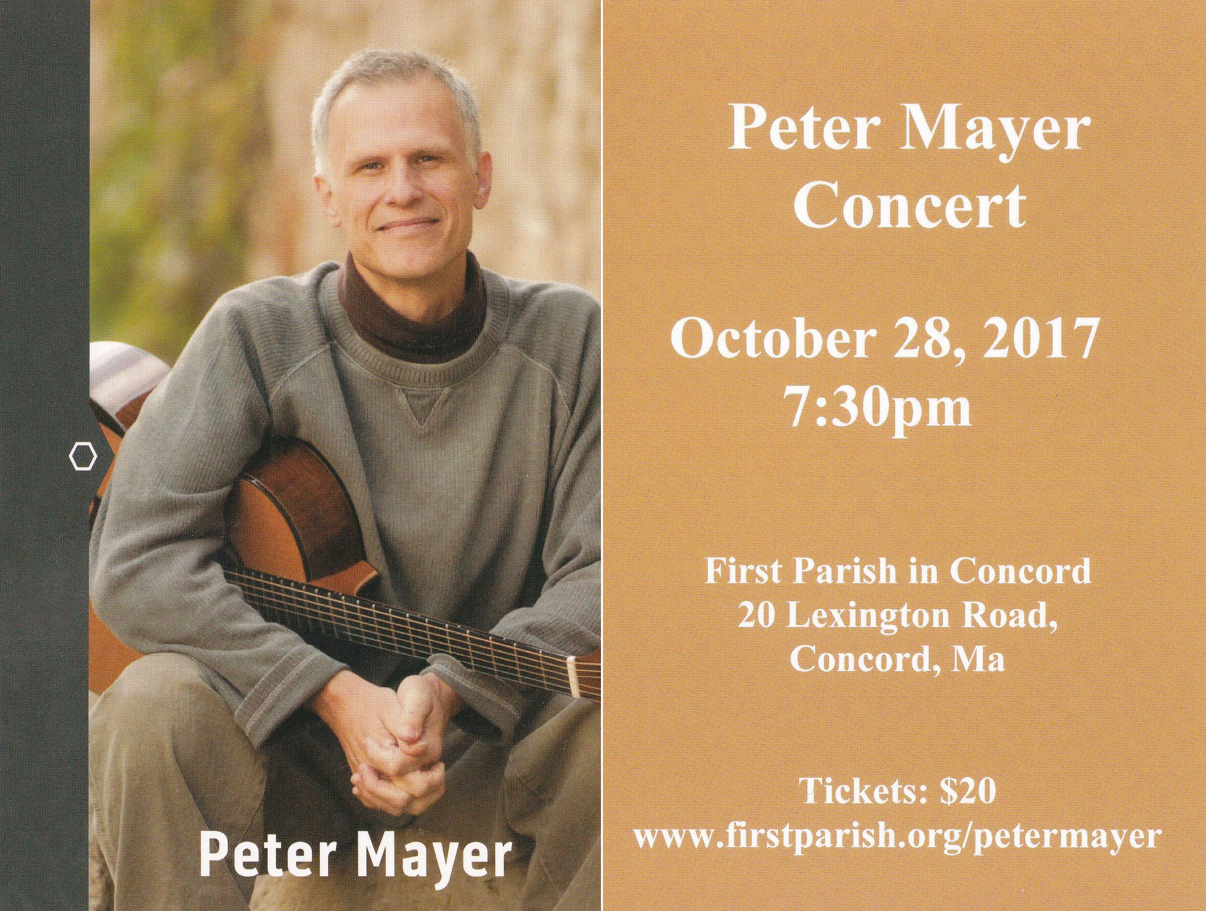 Peter Meyer Concert